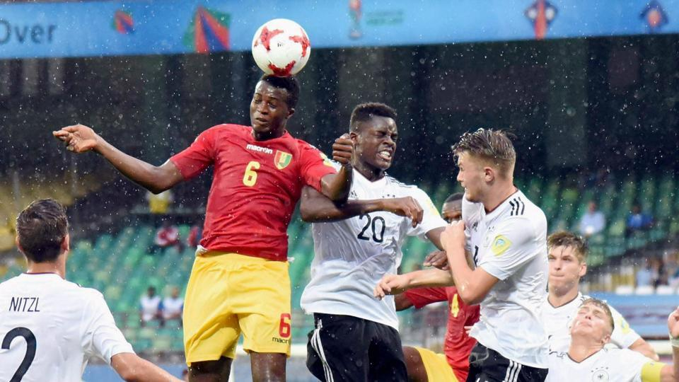 Guinea put up a good fight against Germany in the FIFA U-17 World Cup but they lost 1-3 and crashed out of the tournament.