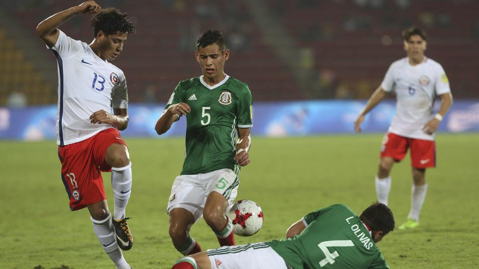 Mexico played out a goalless draw against Chile in their final Group F match of the FIFA U-17 World Cup.