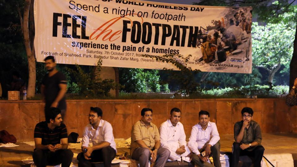 Volunteers and participants at Shahidi Park for Feel the Footpath initiative.