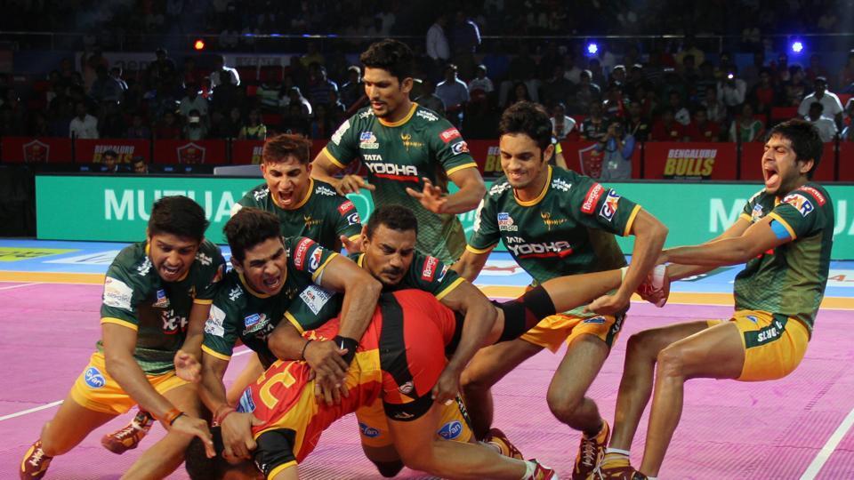 UPYoddha became the final team to enter the Pro Kabaddi League play-off despite losing 30-36 to Bengaluru Bulls.