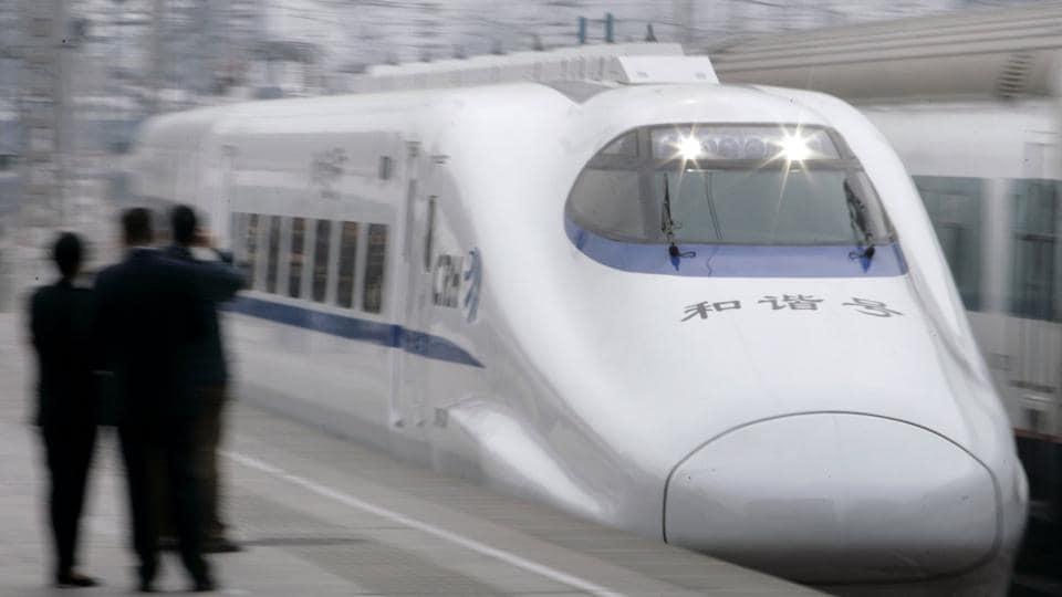 China,High speed train,India