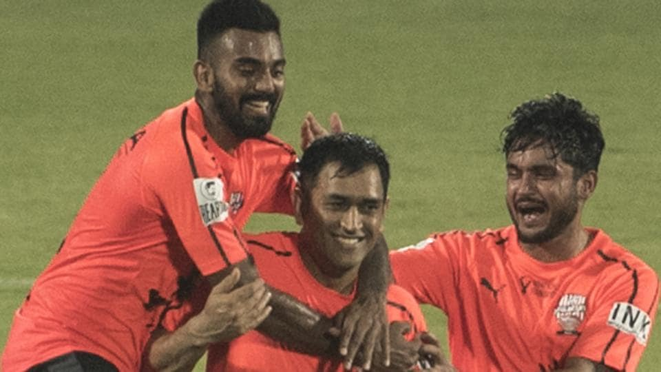 MS Dhoni Bends It Like Beckham, Curls In Free-kick For