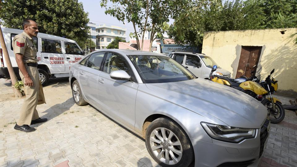 The Audi A6 is which the three men were abducted from Manesar by a gang of seven on Saturday night.