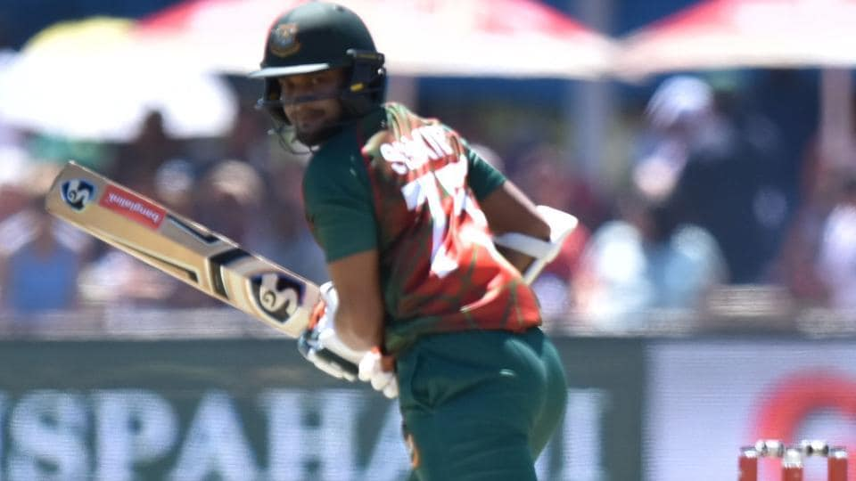 Shakib Al Hasan in action during the first One Day International (ODI) cricket match between South Africa and Bangladesh in Kimberley.