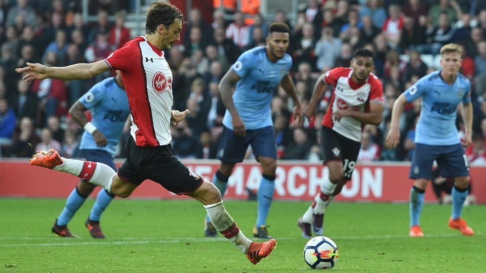 Second  Manolo Gabbiadini  goal came from a penalty conceded by Newcastle United defender Florian Lejeune.
