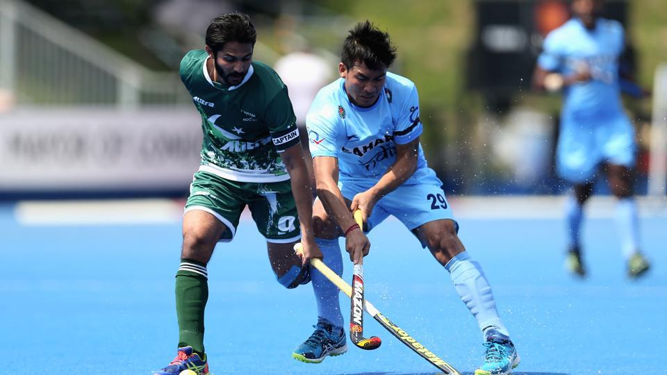 Chinglensana Singh (right) scored for Indian hockey team against Pakistan in the Asia Cup inDhaka on Sunday. Follow highlights of India vs Pakistan, Asia Cup hockey here.