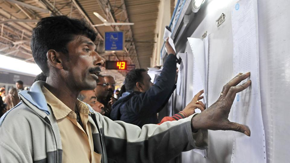 SER trains,Reservation chart,Train coaches