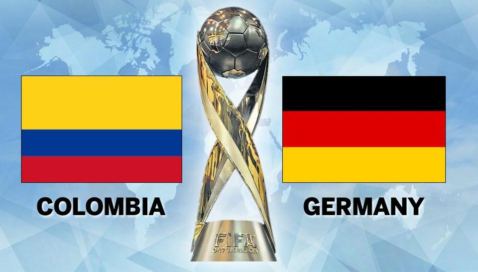 Germany defeated Colombia in a Round of 16 match of the FIFA U-17 World Cup in New Delhi on Monday. Get full score of Colombia vs Germany, FIFA U-17 World Cup Round of 16, here.