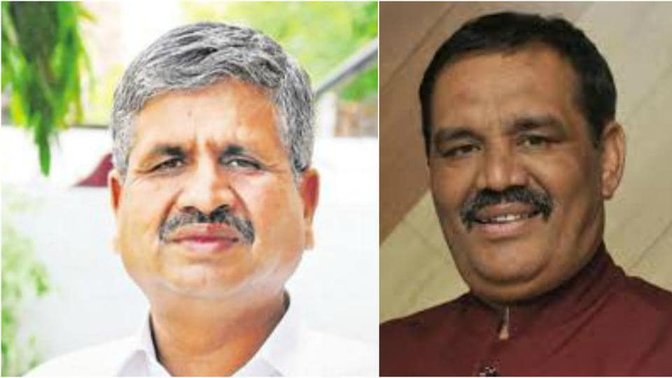 Akali MLA from Bathinda, Sarup Chand Singla (left) blamed Modi government at Centre for the Gurdaspur loss; while Punjab BJP president Vijay Sampla (right) termed it as a defeat of the alliance.