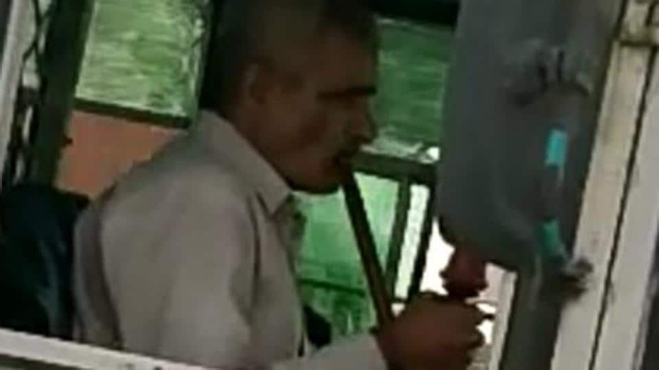 The video of the driver, shot by some commuters who were driving alongside the bus in their car, has gone viral on social media.