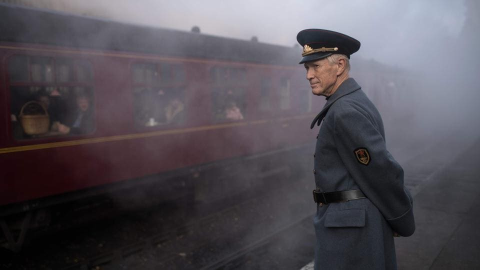 A World War II re-enactor attends the 25th 'Railway in Wartime Event' in Pickering, northern England. Over the three-day event families hopped on board steam and heritage diesel trains, whilst enjoying various war-themed entertainment and vehicle displays at stations along the iconic North Yorkshire Moors Railway line. (Oli Scarff / AFP)
