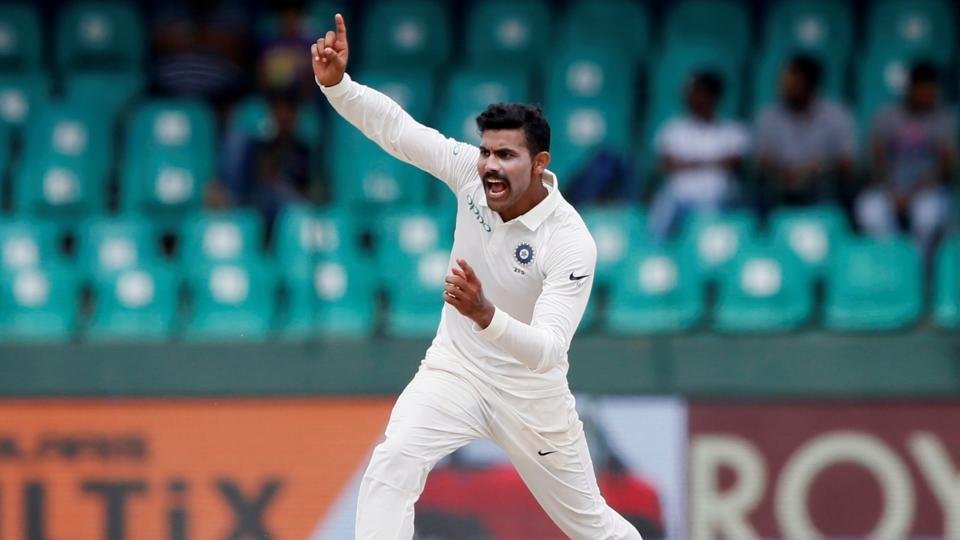 Ravindra Jadeja took nine wickets and scored a double hundred  for Saurashtra against Jammu and Kashmir.