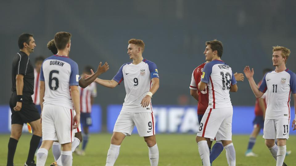 The USAfootball team put up a fabulous display against Paraguay as they defeated them 5-0 to enter the quarter-final of the FIFAU-17 World Cup.  (AP)