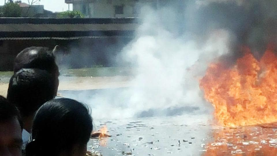 Ranchi,Power House Pond,Fire