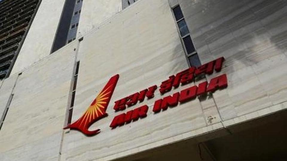 The Air India logo is seen on the facade of its office building in Mumbai, India, July 7, 2017.