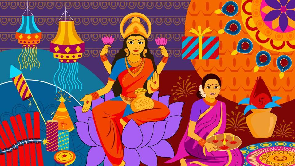 On October 19, Lakshmi Puja will be celebrated by offering prayers to Goddess Lakshmi.