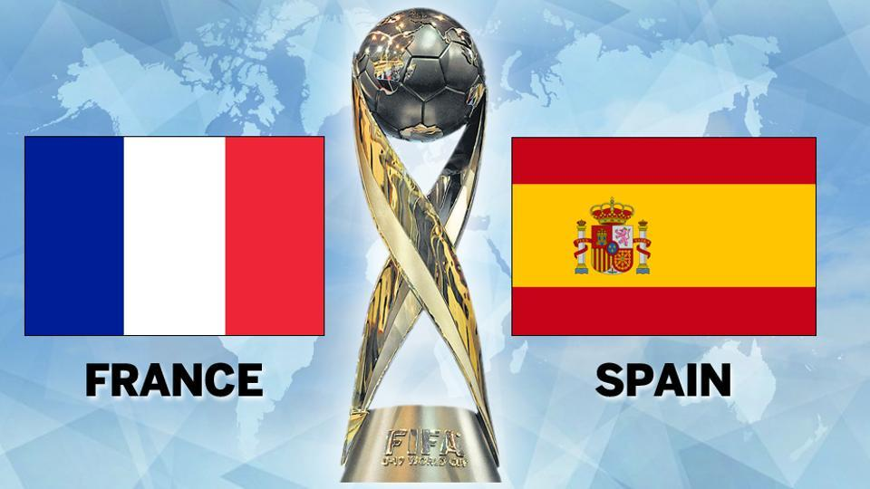 Spain came from behind to beat France in Round of 16 clash at FIFA U-17 World Cup. Get match highlights of France vs Spain, FIFA U-17 World Cup Rd of 16, here.