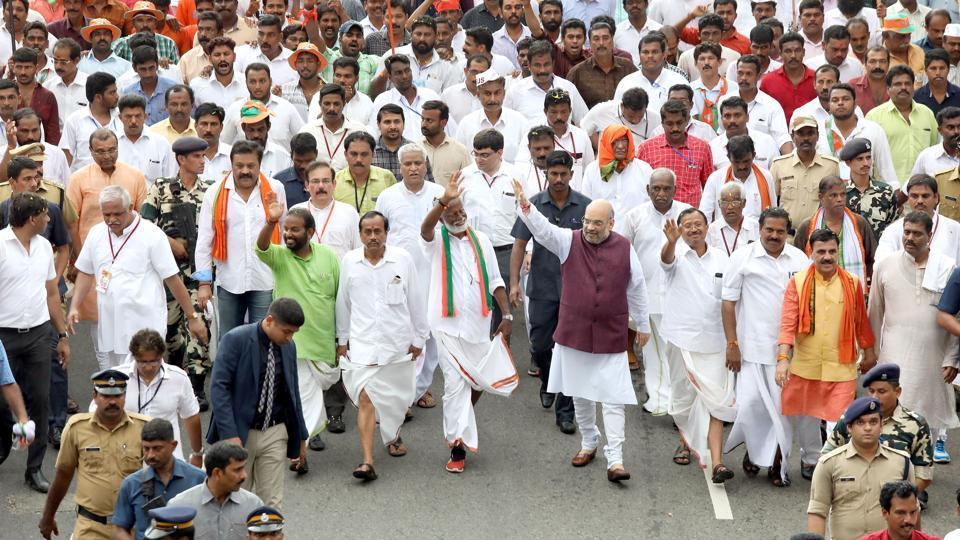 Amit Shah,Janraksha Yatra,Kerala BJP