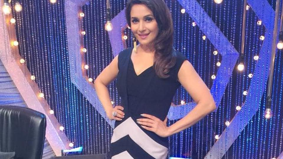Madhuri Dixit Nene on the sets of So You Think You Can Dance.