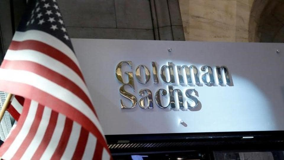 A view of the Goldman Sachs stall on the floor of the New York Stock Exchange in New York, US on July 16, 2013.
