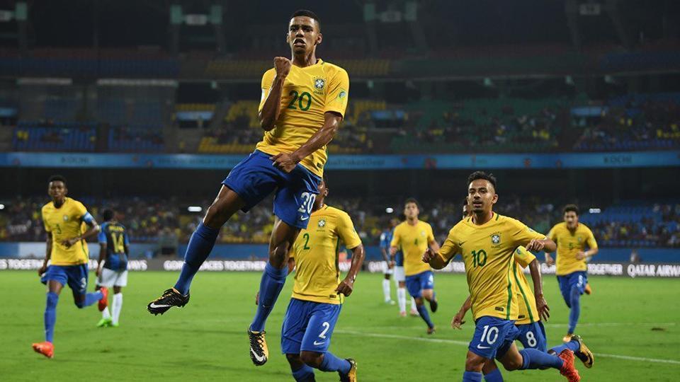 Brazil defeated Honduras to reach the FIFAU-17 World Cup quarterfinals. (TWITTER)