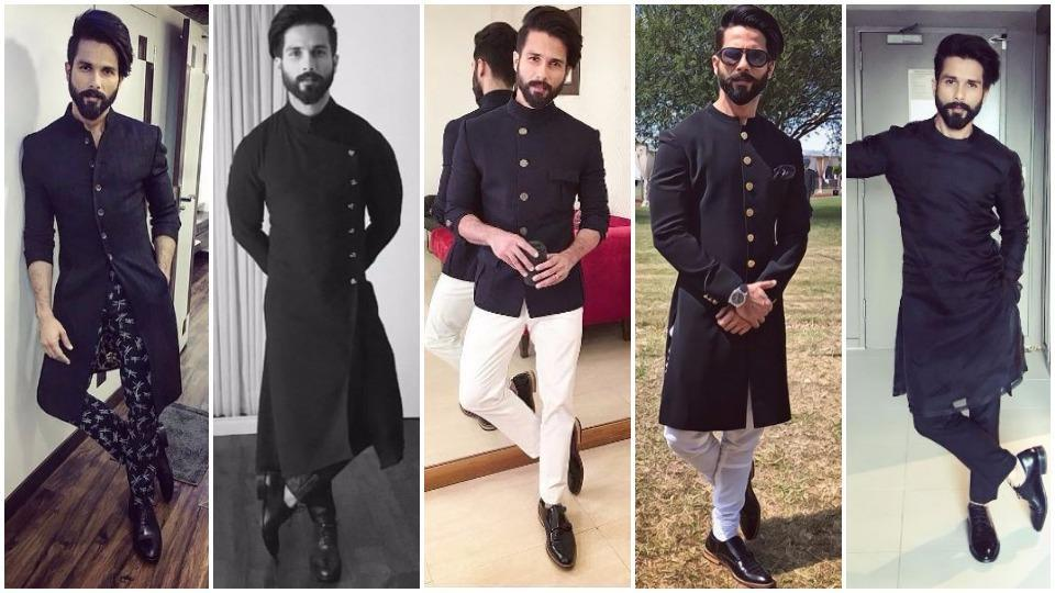 Image result for Party, Black outfits worn by Shahid