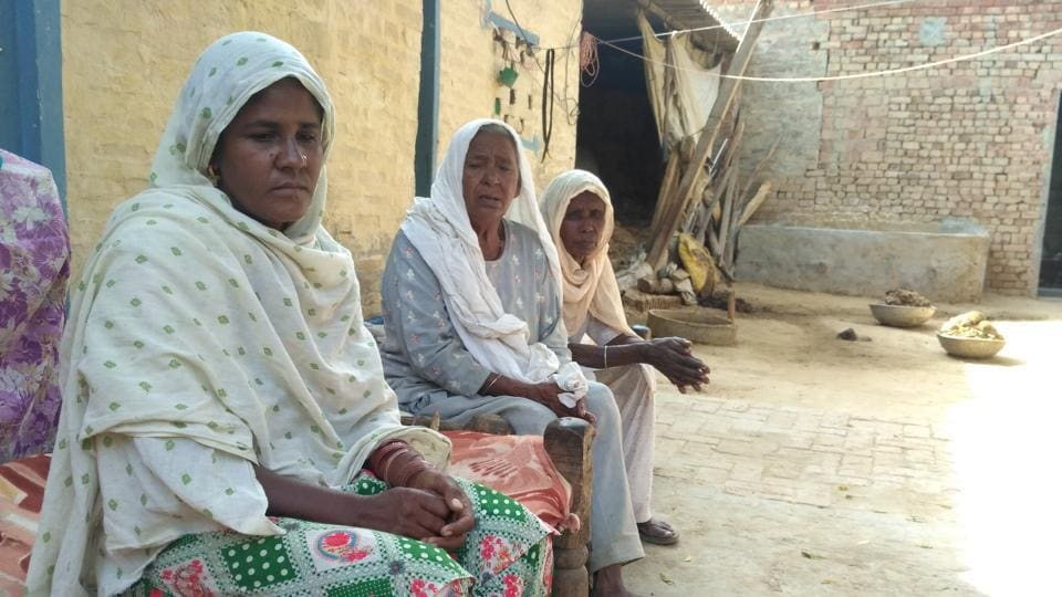 Paramjit Kaur, mother of Bhupinder who was among the 7 person killed in a cracker factory blaze on September 19 in Sular village of Sangrur.