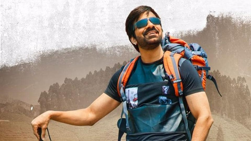 Ravi Teja in a still from raja The Great.