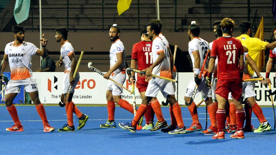 The Indian hockey team drew 1-1 against South Korea in the Asia Cup on Wednesday.
