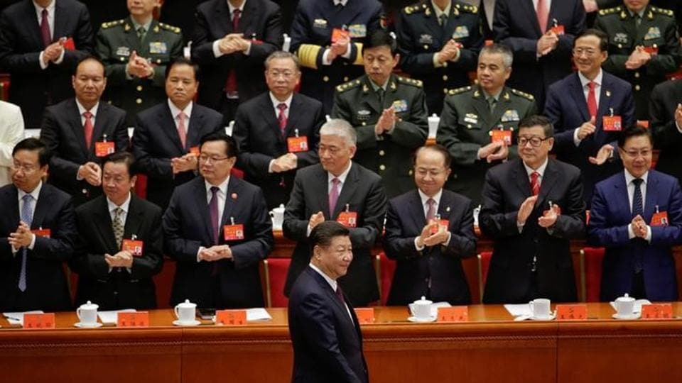 Chinese President Xi Jinping arrives for the opening of the 19th National Congress of the Communist Party of China at the Great Hall of the People in Beijing, China on October 18.