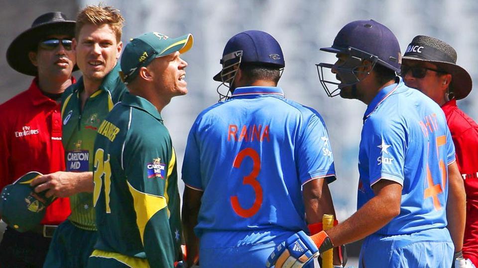 David Warner,Rohit Sharma,INdia vs Australia