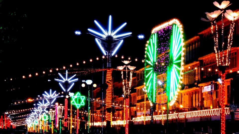 The Raja Park all decked up for Diwali.