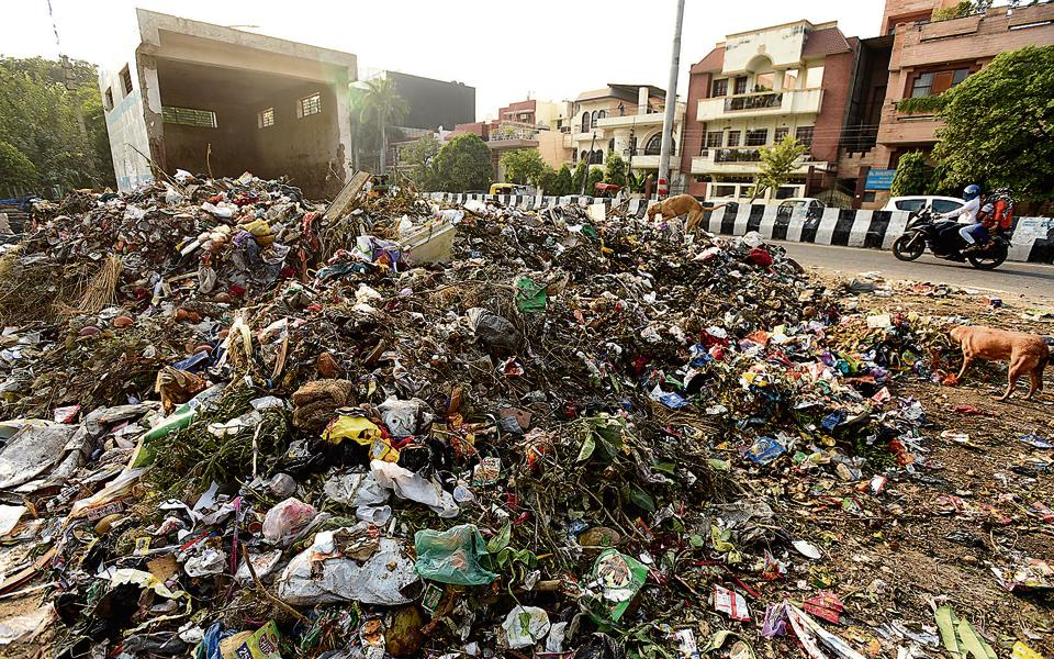 Noida produces 660 metric tonnes of municipal solid waste every day.