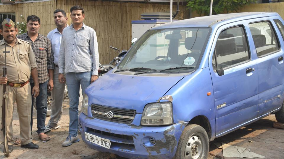 The car was found abandoned in Ghaziabad on Saturday after it was stolen on Thursday from outside the secretariat.