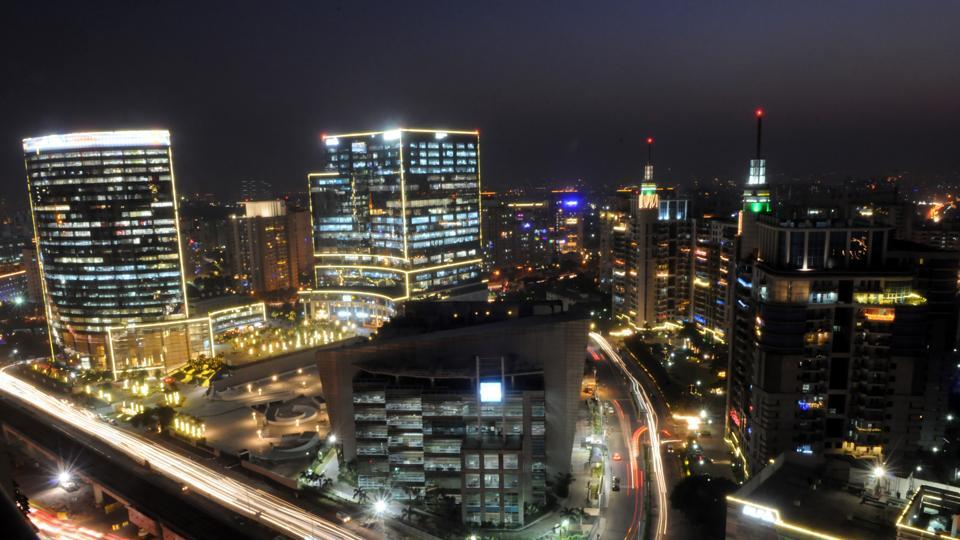 The Gurgaon skyline stayed relatively clear onWednesday giving residents a chance to enjoy the festival lights.