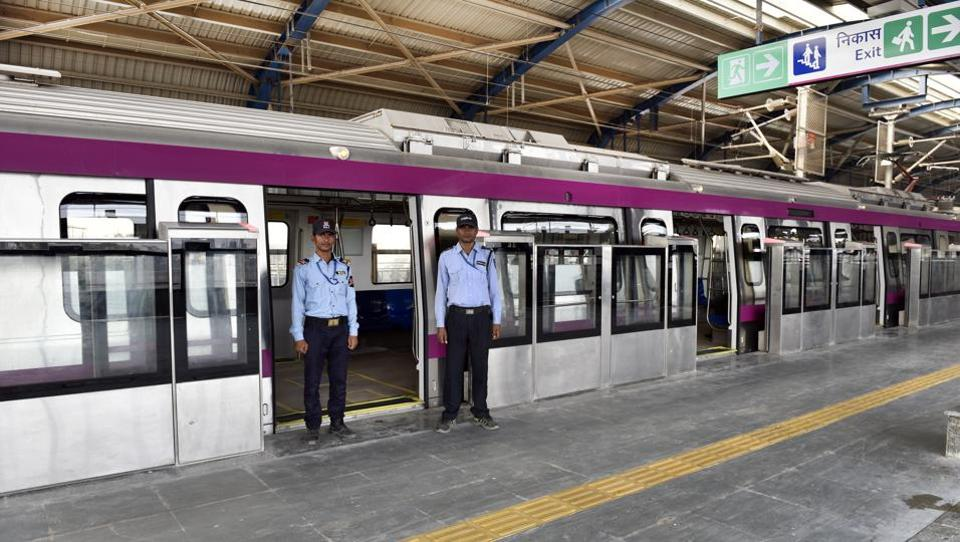 Image result for Safety inspection of Metro's Magenta Line stretch to begin on Nov 13