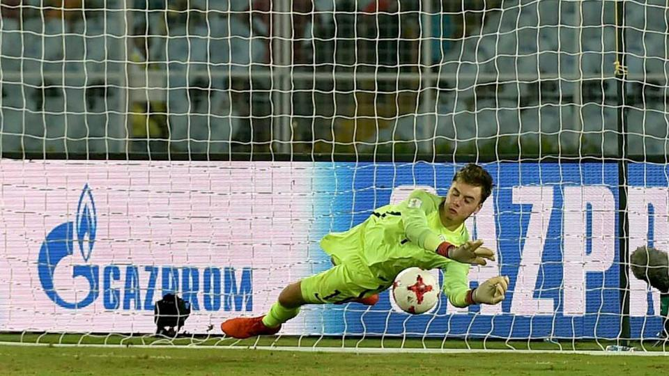 England goalkeeper Curtis Anderson was their hero in the FIFA U-17 World Cup Round of 16 match against Japan in Kolkata.