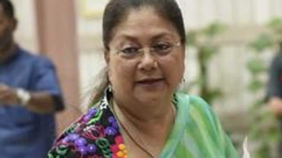 Rajasthan chief minister Vasundhara Raje.