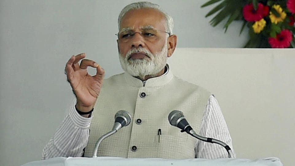 Prime Minister Narendra Modi speaks at the dedication of the first ever All India Institute of Ayurveda to the nation, on the occasion of 2nd Ayurveda Day, in New Delhi on Tuesday.