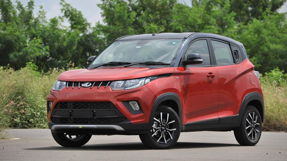 Both the bumpers in the new look KUV 100NXT have been redesigned and get contrasting silver skid plates that give the KUV a more rugged look.
