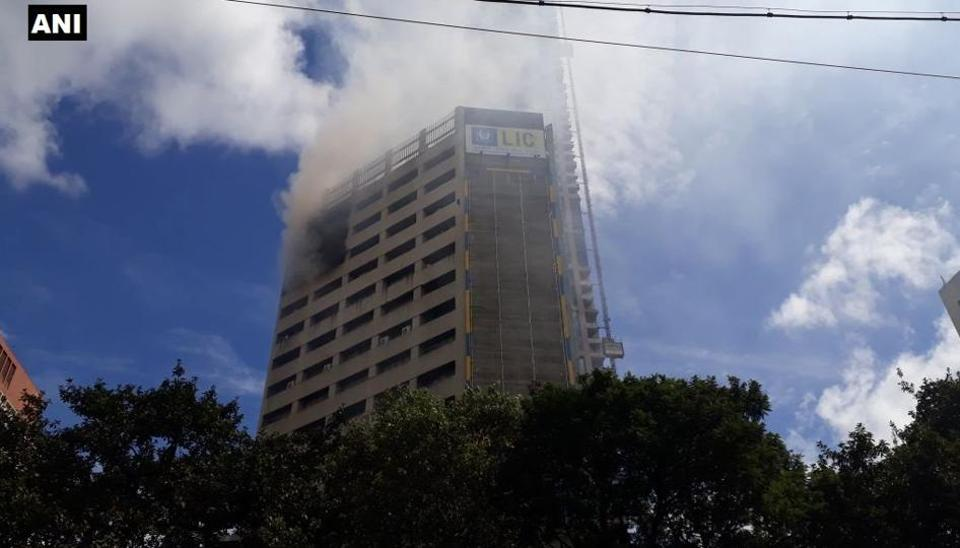 Fire breaks out at LIC building on Jawahar Lal Nehru road in Kolkata.