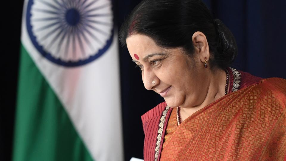 Indian External Affairs Minister Sushma Swaraj attends a meeting with U.S. Secretary of State Rex Tillerson (not pictured) at the Palace Hotel, on the sidelines of the the United Nations General Assembly in Manhattan, New York, U.S., September 22, 2017.