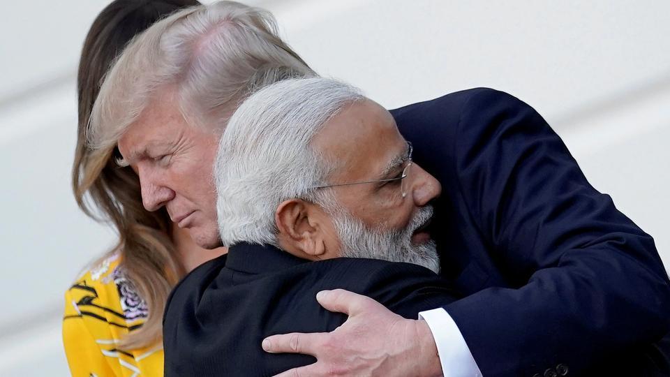 Prime Minister Narendra Modi hugs US President Donald Trump during a visit to in Washington in June.