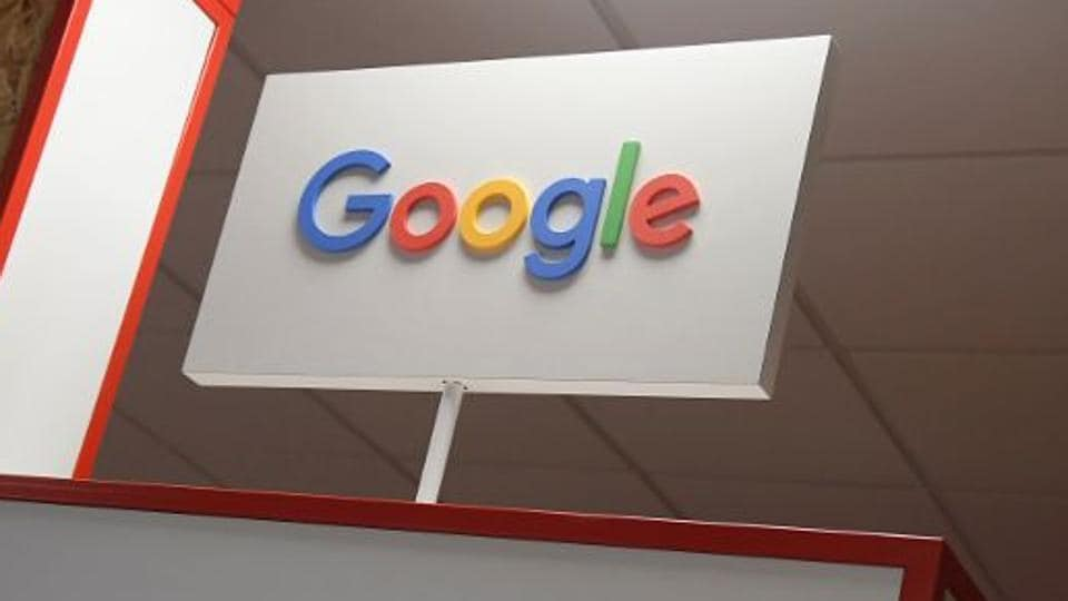 A Google digital workshop stand in Brighton, Britain. Search engine giant Google has emerged as the most authentic brand in India.