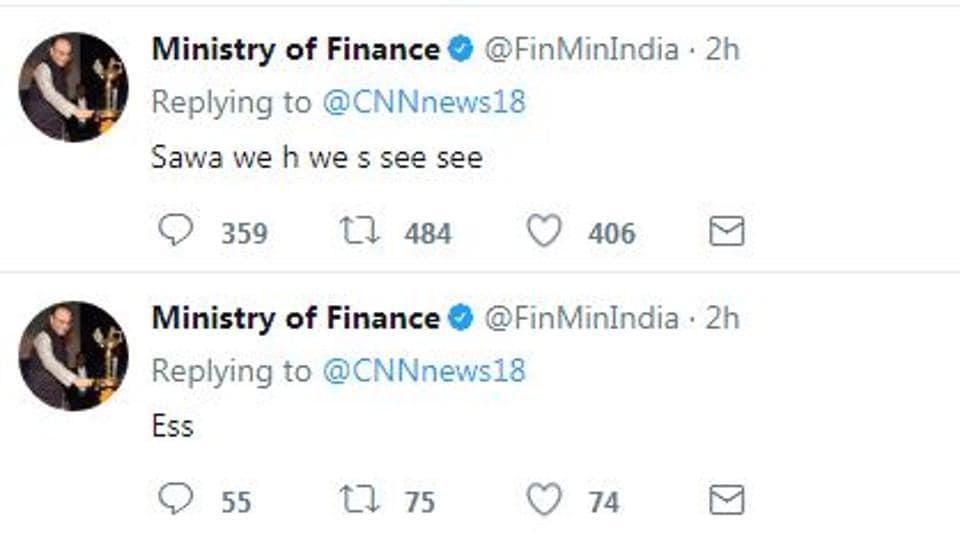 Ministry of finance,trending news,twitter