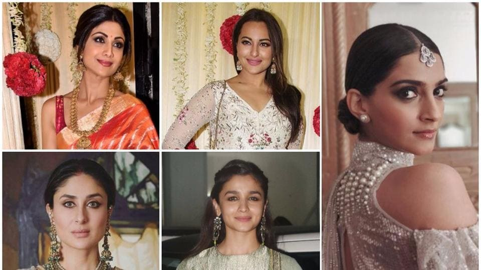 Scroll down to see our favourite looks from Diwali 2017:From Shilpa Shetty, Sonakshi Sinha and Sonam Kapoor to Kareena Kapoor Khan and Alia Bhatt.