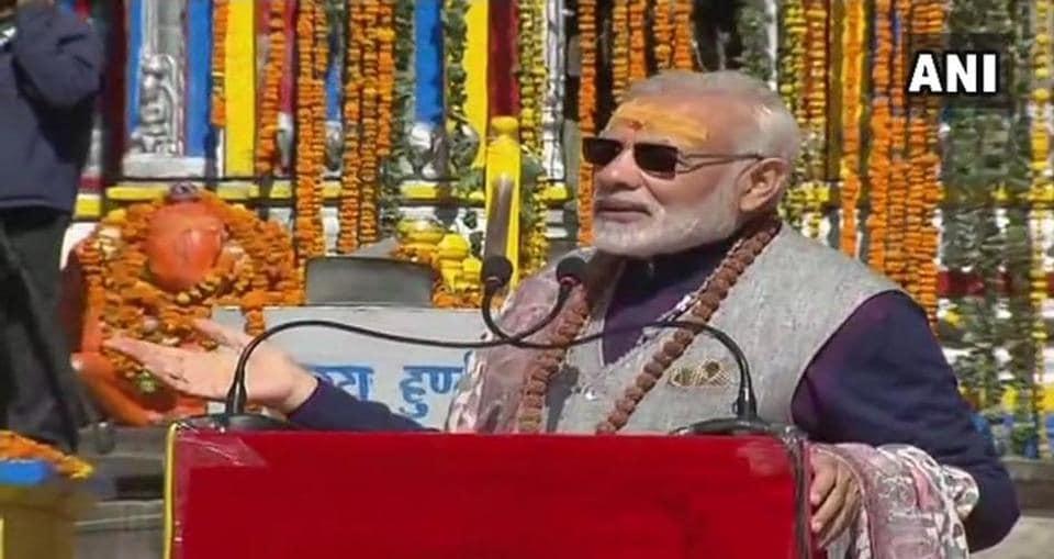 PM Modi in Kedarnath on Friday.