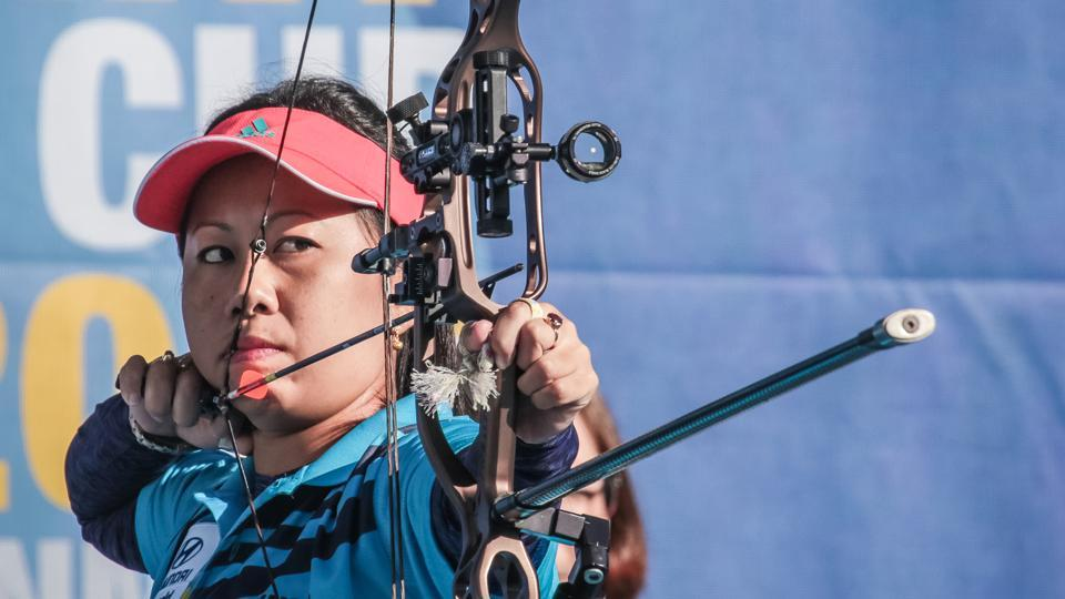 India will take on Colombia in the final of the compound event at  World Archery Championships.