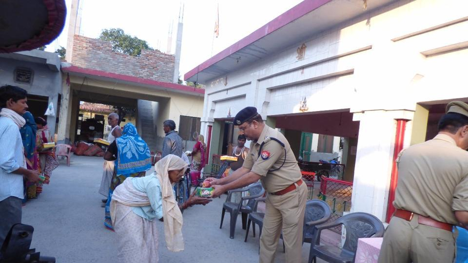 The top hierarchy of the Gautam Budh Nagar police, including senior superintendent of police (SSP) Love Kumar, spent time at an orphanage in Sector 12, where a dinner was also organised