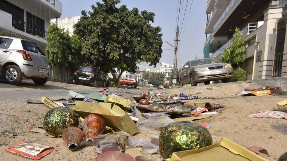 Residents claim firecrackers were burst only sporadically in some parts.